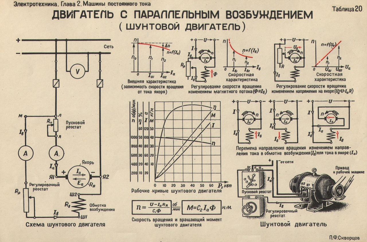 Двигатель переменного тока однофазный схема подключения